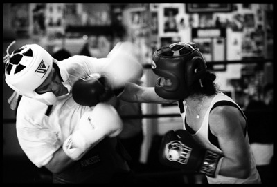 Sparring as a form of adrenaline use training in the martial arts