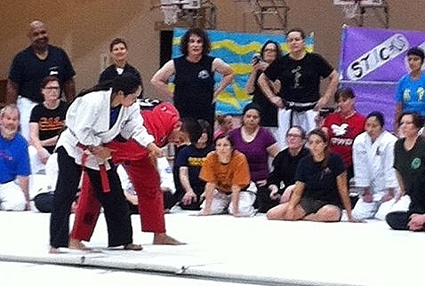 Lori Sensei teaching at NWMAF 2014 training camp